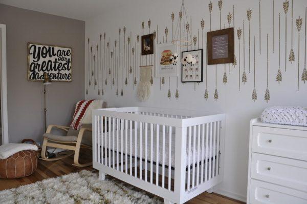 Cómo elegir la iluminación y pintura para una habitación de bebé
